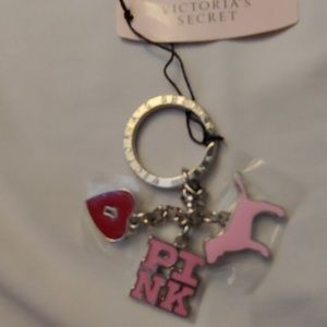 Pink key chain new NWT